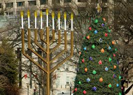 large menorah why hanukkah and christmas shouldn t be in competition