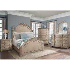 White King Bedroom Suite South Hampton Bedroom Bed Dresser U0026 Mirror King White