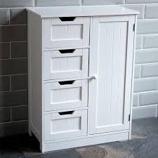 Bathroom Storage Cupboards White Wooden Drawer Bathroom Cabinet Storage Cupboard Unit Images