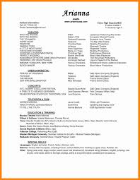 musical theatre resume template 6 musical theatre resume template doctors signature theatre resume