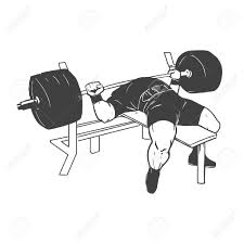 Power Lifting Bench Press Powerlifting Bench Press Figure On Isolated White Background