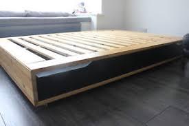 ikea mandal ikea mandal 140 x 202 bed frame with storage drawers ebay