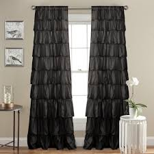 Curtains With Ruffles Dress Up Bathroom With Diy Ruffle Curtains Home Design Ideas
