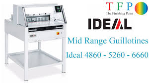 ideal paper guillotine range ideal 4860 5260 u0026 ideal 6660