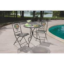 patio 3 piece set outdoor expressions 3 piece dragonfly bistro set 3209881 do it