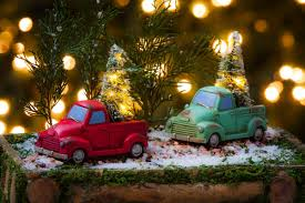 miniature christmas tree lights holiday truck with tree light up miniature decor reviews joss main