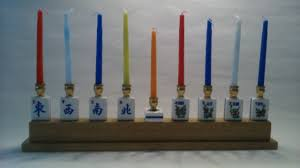 candles holders home decor home living mah jong chanukah menorah winds seasons english writing hanukkah chanukiya