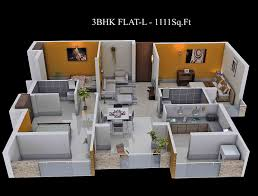 Bhk Means by 3 Bhk Home Design Layout