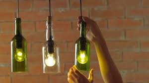 diy hanging wine bottle pendants youtube