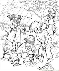 rain garden coloring free fallouts coloring pages