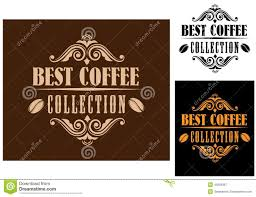 retro coffee labels stock vector image of graphic illustration
