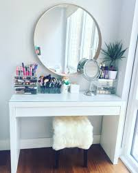 Diy Vanity Table Ideas Table Awesome Makeup Vanity Table By Ikea Malm Dressing With Ideas
