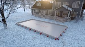 Build A Backyard Ice Rink Backyard Ice Rink Design Easiest Home Ice Hockey Rink Kit Ez Ice