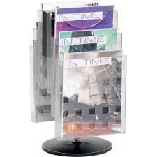 pr駸entoir bureau helit présentoir porte revue de table en kit de 6 pivotant pour a4