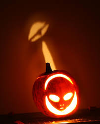 grey alien made from a green pumpkin pictures of real alien