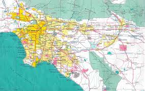 map usa los angeles los angeles map usa map guide 2016