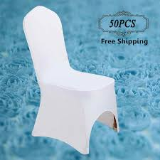 Spandex Banquet Chair Covers Aliexpress Com Buy 50 Pcs Stretch Lycra Universal Polyester