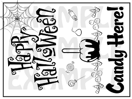 pdf happy halloween candy here door sign party
