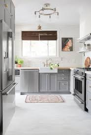 Ideas For Cork Flooring In Kitchen Design Kitchen Gray And White Kitchen Kitchens Floor Mats Options Tile