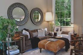 Faux Leather Paint - earth tones paint living room transitional with house plants faux