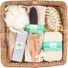bath and gift sets cosmetics 7pc bath set in rattan basket walmart