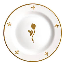 guest plate disney dessert plates beauty and the beast be our guest plate set