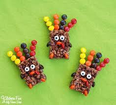 easy thanksgiving rice krispie turkey treats kitchen with my