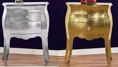 comodini foglia argento comodini ò comodini foglia oro argento