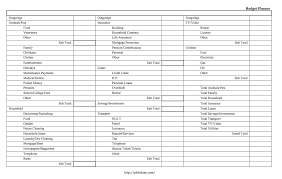 budget planner template free free business template