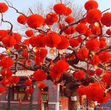 new arrival 615cm red chinese paper lanterns for wedding festival