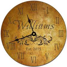 Wall Clock Design Personalized Family Name Wall Clock