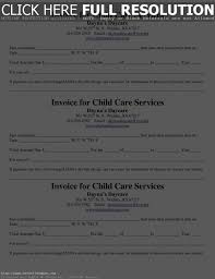 download child care invoice template free rabitah net resume