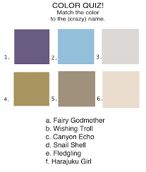 weird paint color names paint quiz answers blog
