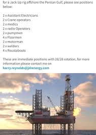 jobs drilling jackup rig offshore july 2017 apply now egy