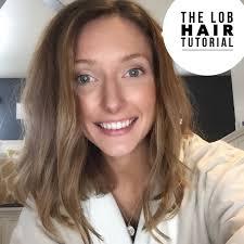 wavy lob haircut tutorial the lob hair tutorial youtube