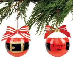 ornament personalized santa suit empty field