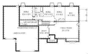 Free House Plans With Basements Splendid House Plans Ranch With Basement Fresh At Home Style Kids