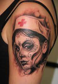 day of the dead nurse tattoos google search tattoo ideas