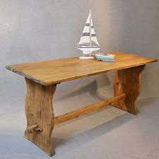 Pine Kitchen Dining Table Narrow Refectory Antiques Atlas - Small pine kitchen table