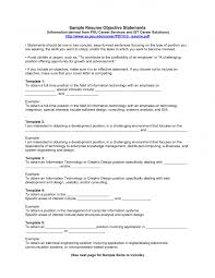 A Sample Of Resume For Job by Examples Of Resumes Objectives Berathen Com