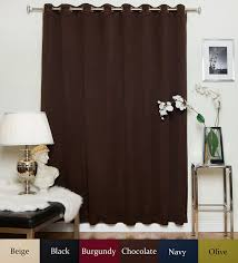 108 Inch Drapery Panels Amazon Com Chocolate Wide Width Nickel Grommet Top Thermal