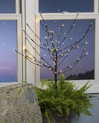 battery operated lighted branches led branches led winter sapling battery operated with timer