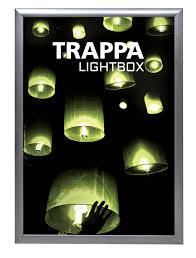 led picture frame light trappa led snap frame light box power graphics com