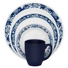 corelle livingware 16 dinnerware set true blue