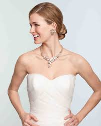 bridal jewelry bridal jewelry for every wedding dress style martha stewart weddings
