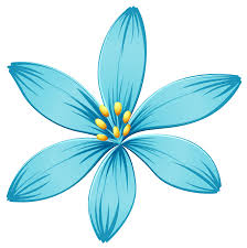 blue clipart flower collection