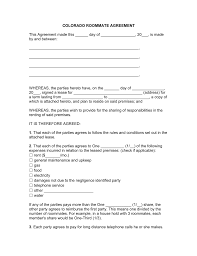 rental lease agreement word template free colorado roommate room rental agreement template pdf