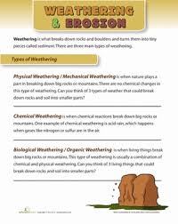 types of weathering worksheet education com