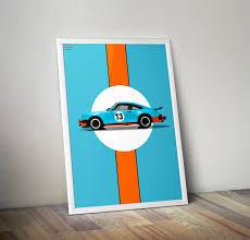 porsche poster vintage porsche 911 930 gulf livery poster vertical car bone pl