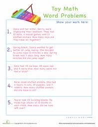 toy subtraction word problems word problems worksheets and words